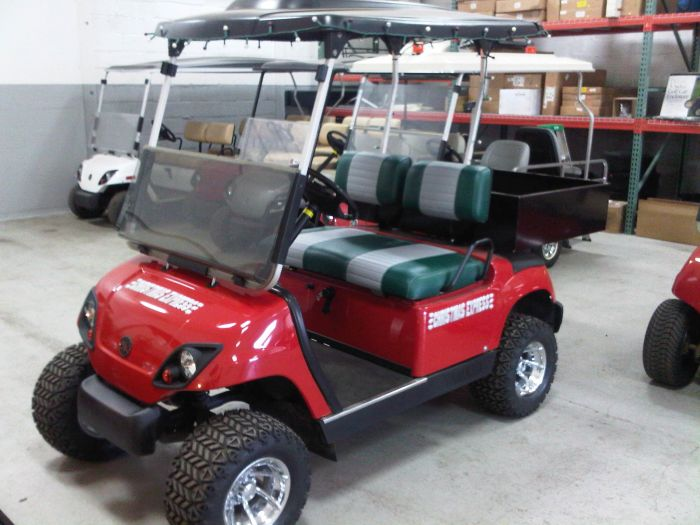Red Ju on G16 Yamaha Golf Cart Bodies